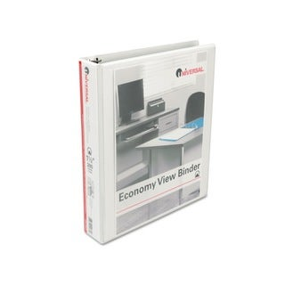 Universal Round Ring Economy Vinyl View White Binder (Pack of 12)