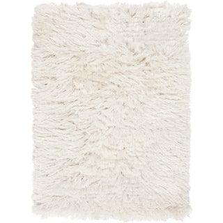 Candice Olson Hand-woven Ternia Winter White Rug (5' x 8')