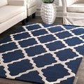 Hand-hooked Alexa Moroccan Trellis Wool Rug (6&#39; Round)