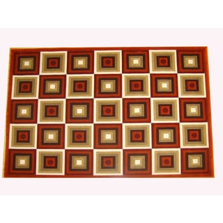 Generations Rust Abstract Squares Rug (7'9 x 10'5)