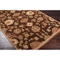 Hand-knotted Aries Brown Wool Rug (2' x 3')