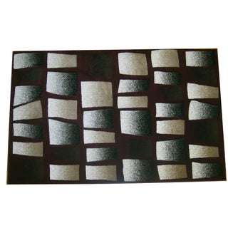 Generations Burgundy Abstract Tranche Rug (7'9 x 10'5)