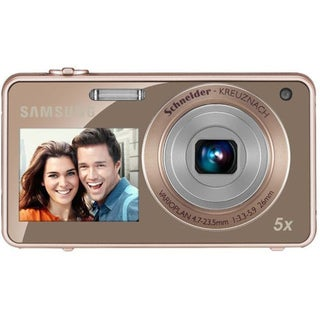 Samsung ST700 2View 16.1MP Gold Digital Camera