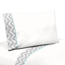 Sweet JoJo Designs 200 TC Grey and White Zig Zag Diamond Sheet Set