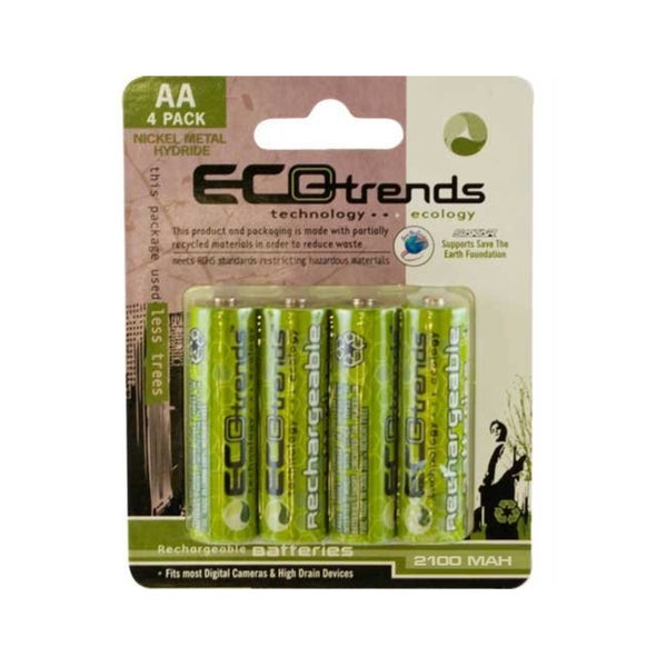 Ecotrends Eco-friendly Rechargeable AA Batteries (Pack of 4)