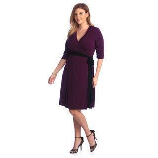 Kiyonna Women's Plus Size 'Legacy' Wrap Dress