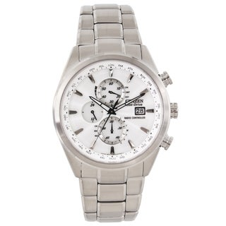 Citizen Men's Steel Eco-Drive World Chronograph A-T Watch