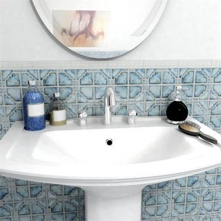 SomerTile 11.75x11.75-inch Luna Diva Blue Porcelain Mosaic Floor and Wall Tile (Case of 10)