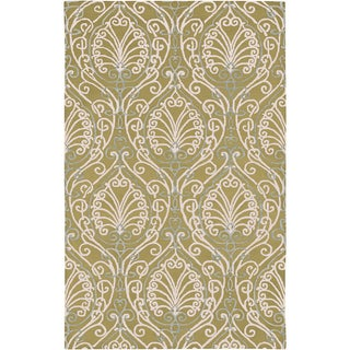 Candice Olson Hand-tufted Legnano Avocado Botanical Pattern Wool Rug (9' x 13')