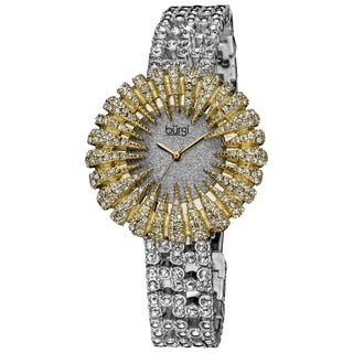 Burgi Women's Dazzling Crystal Quartz Watch