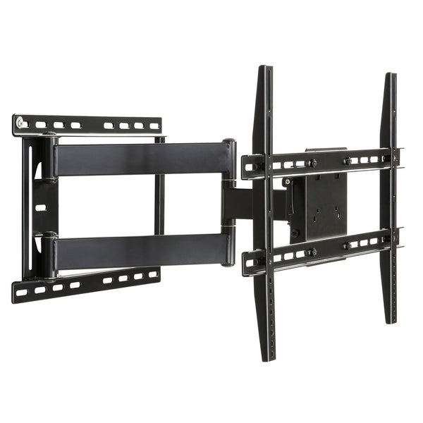 Large Full Motion Articulating Mount For 19 inch to 80 inch Flat Screen TV In Black