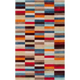 Hand-tufted Anderlecht Multicolor Geometric Rug (8' x 11')