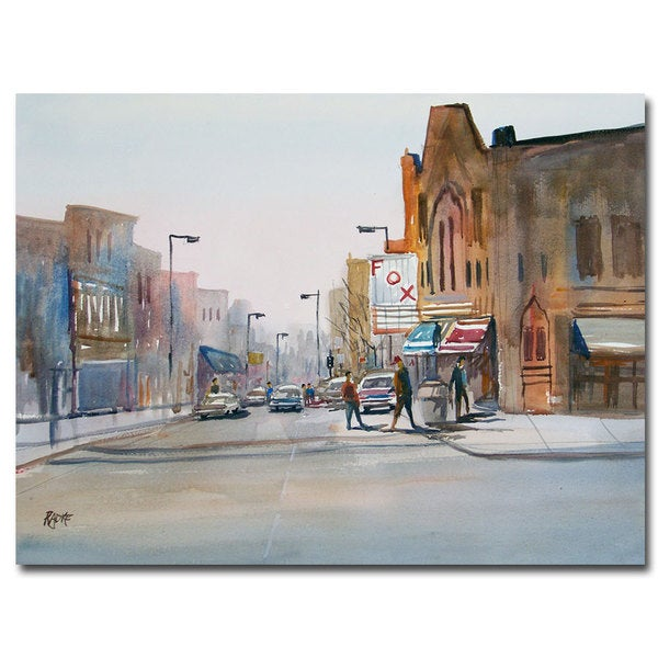 Ryan Radke 'Steven's Point Downtown' Canvas Art