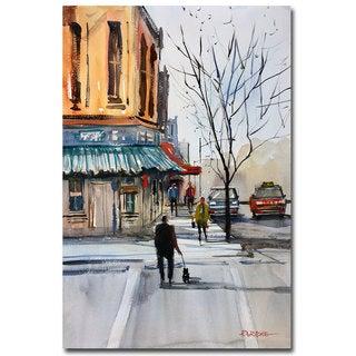 Ryan Radke 'Walking the Dog Steven's Point' Canvas Art