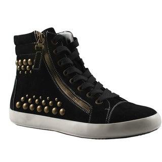 Refresh by Beston Women's 'Melba' High Top Studded Sneakers