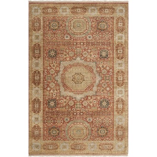 Hand-knotted Cinnamon New Zealand Wool Rug (9' x 13')