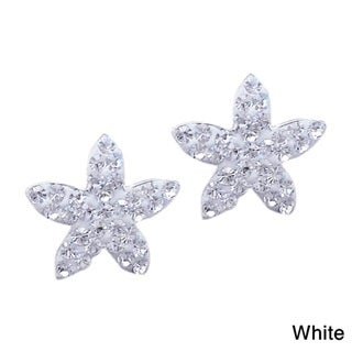 Cute Sparkly Star Cubic Zirconia Silver Stud Earrings (Thailand)