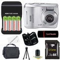 Kodak EasyShare C1505 12MP Silver Digital Camera with 8GB Bundle