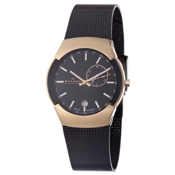 Skagen Men's 983XLRBB Rose-gold Stainless Steel Watch