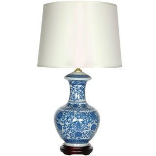 Blue and White Porcelain Round Vase Lamp (China)