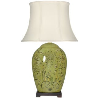 Harvest Season Porcelain Lamp (China)