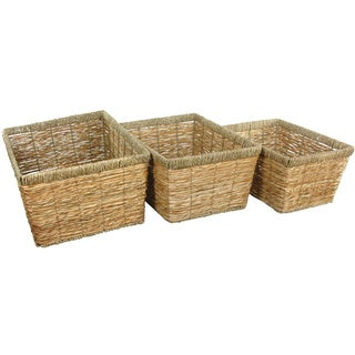 Hand Woven Natural Storage Basket Set (China)