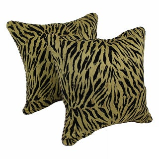 Blazing Needles Chenille Corded Savanah Throw Pillows (Set of 2)