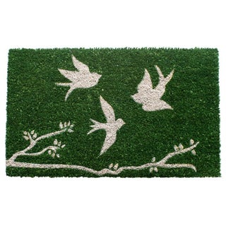 Trio of Birds Coir Doormat