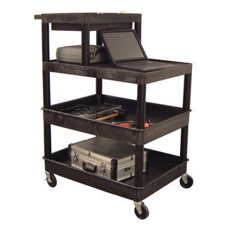 Luxor 4-shelf Plastic Utility Cart