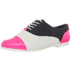 Steve Madden Women's Pink Multi Oxford Shoes
