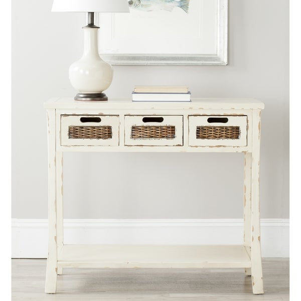 Safavieh Autumn White 3-drawer Console Table