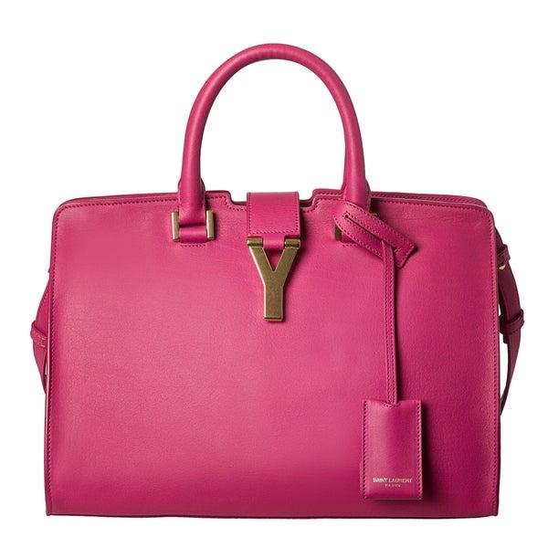 Yves Saint Laurent 'Cabas Classique Y' Pink Leather Tote Bag