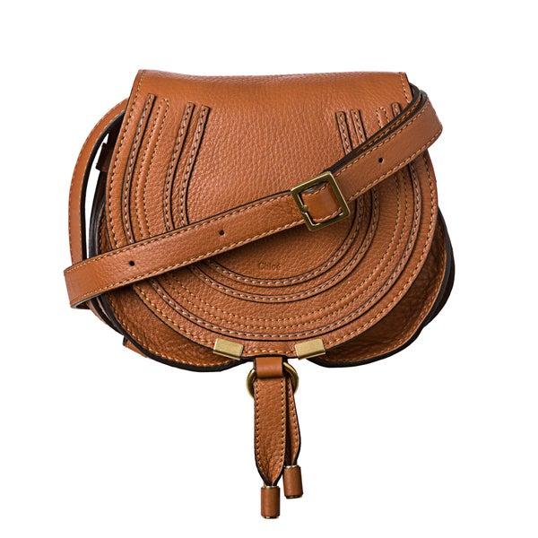 Chloe 'Marcie' Mini Brown Leather Round Cross-body Bag