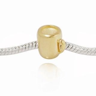 De Buman Gold over Silver Cup Charm Bead