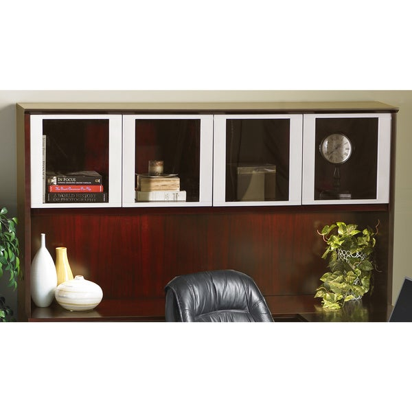 Mayline Corsica Series 72-inch Hutch with Glass Doors