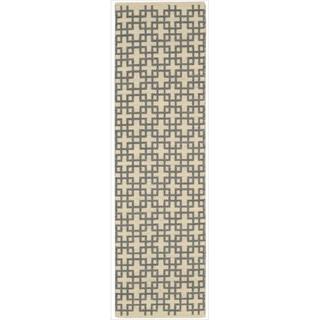 Barclay Butera by Nourison Maze Dove Flatweave Rug (7'9 x 10'10)