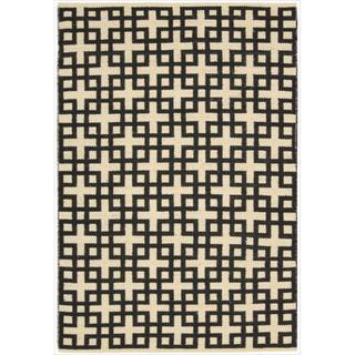 Barclay Butera by Nourison Maze Midnight Flatweave Rug (7'9 x 10'10)