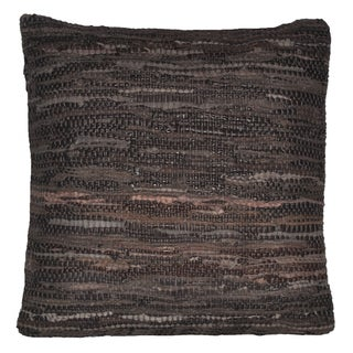 Brown Leather Matador 18x18-inch Pillow