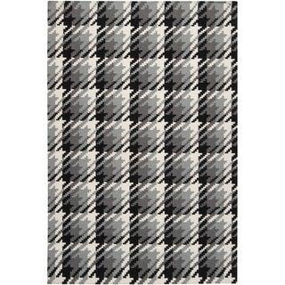 Hand-woven Langley Grey Wool Rug (9' x 13')