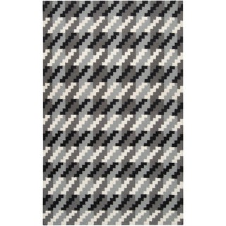 Handwoven Merritt Grey Wool Rug (9' x 13')