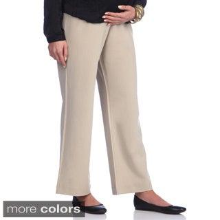 Ashley Nicole Maternity Petite Wide Leg Pants