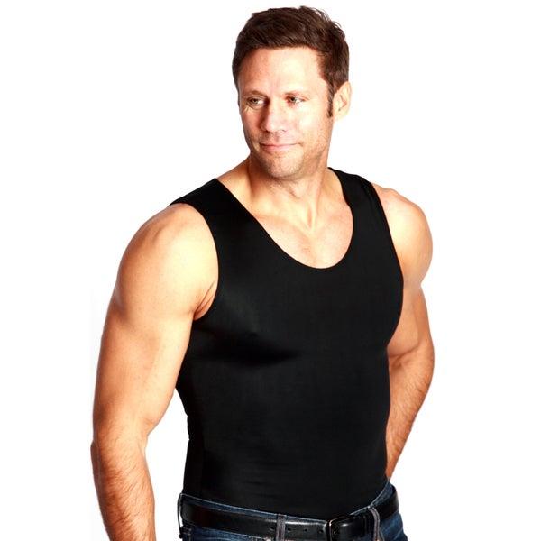 Insta Slim Men's Spandex Blend Tank Undershirt