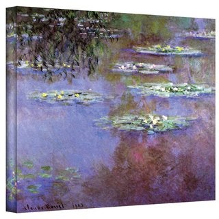Claude Monet 'Sea Roses II' Gallery Wrapped Canvas