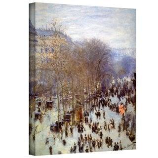 Claude Monet 'Boulevard Capucines' Gallery Wrapped Canvas