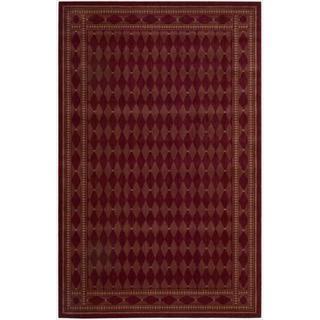 Cosmopolitan Burgundy Diamond Print Rug (7'6 x 9'6)