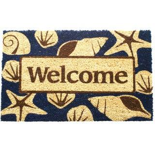 Beach Welcome Coir Doormat