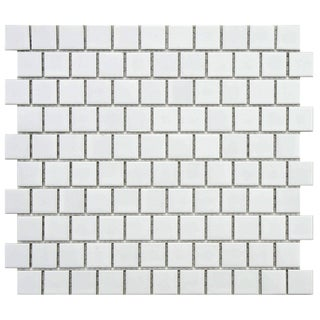SomerTile 10.75x11.75-inch Victorian Square 1-inch Matte Offset Porcelain Mosaic Tile (Pack of 10)