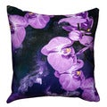 Maxwell Dickson Purple Orchid Throw Pillow