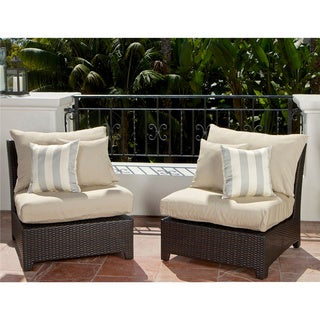 RST Brands Slate Armless Chair Patio Furniture (Pack of 2)