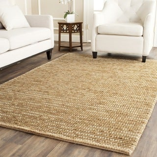 Safavieh Hand-knotted Vegetable Dye Chunky Beige Hemp Rug (5' x 8')